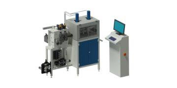 Stroj na výrobu pružin s dostředným předpětím